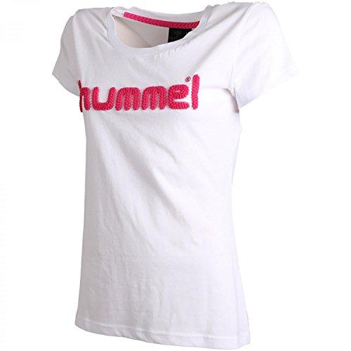 hummel Classic Bee Rebel T-Shirt Damen weiß / pink, XS