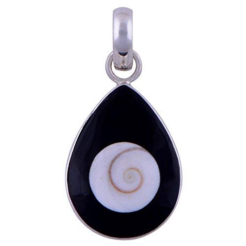 Silver Prince 3.3 gram Shiva Eye, Black Onyx Pure 925 Silver Pendant