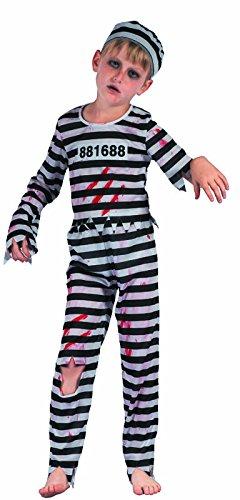Kostüm Bagnard - P 'tit Clown re91080-Kostüm Kinder bagnard Zombie, S 4/6Jahre
