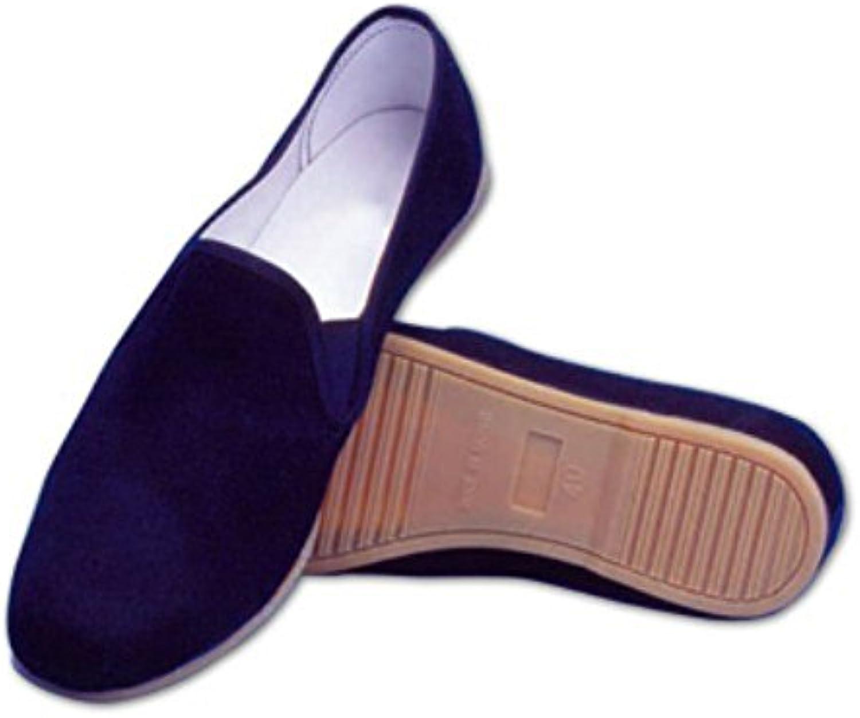 Schuhe Kung Fu aus Baumwolle mit Sohle Gummi Tai Chi Schwarz