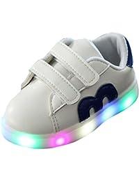 hibote Toddler Boys Girls Light Up Chaussures LED Sneaker