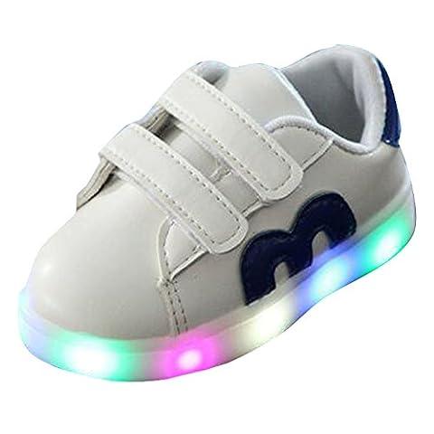 hibote Toddler Boys Girls Light Up Shoes LED Sneaker Blue