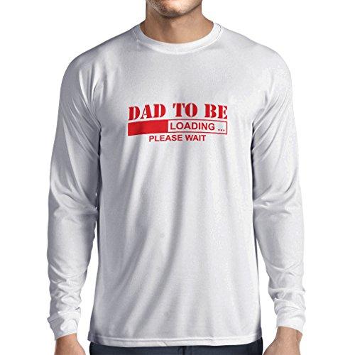 T-Shirt mit langen Ärmeln Vati zum zu sein - loading vatertagsgeschenk Geschenk für Vater, Vatertag Geschenk, geschenke für papa Weiß Rote