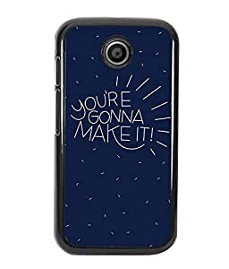 Crazymonk Premium Digital Printed Back Cover For Moto E