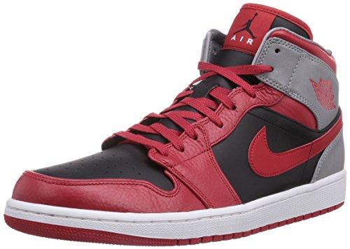Nike Air Jordan 1 Mid-46 - 12 554724-603 - 46 - 12 Rouge (Nike 1 2 Zip)
