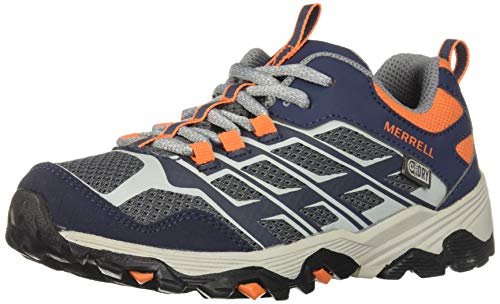Merrell M-moab Fst Low Waterproof, Zapatillas de Senderismo Unisex Niños, Azul Navy/Grey/Orange...