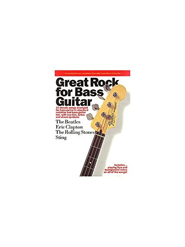 Great Rock For Bass Guitar. Partitions pour Guitare Basse(Symboles d'Accords), Tablature Basse(Symboles d'Accords)