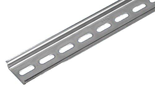 35mm Hutschiene verzinkt gelocht (Höhe 7,5mm, Länge 25cm)