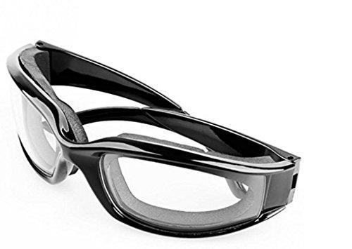 haoyishang Professionelle Leichtes, robustes Zwiebel Schwimmbrille für Haus und Küche Verwendung, gratis Zwiebel Brillen Gläser (schwarz)