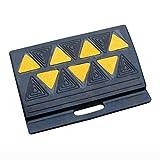 Portable Pendenza della Strada Pad, Coperto Patio d'ingresso Gomma Triangle Pad - Auto Moto Trolley Strada Tooth Tappetino Antiscivolo (Size : 40 * 25 * 13CM)