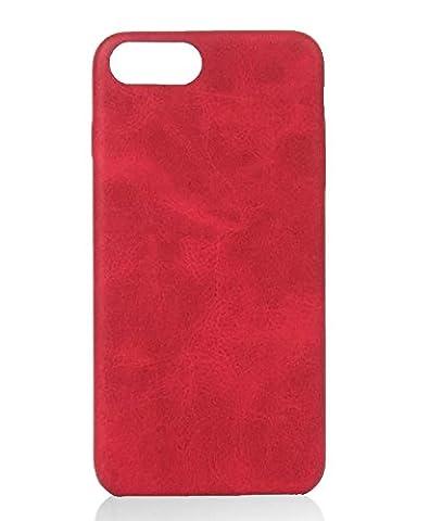 [ Apple iPhone 5 / 5s, Rot ] Hülle PU-Leder / Leather Case ALCANTARA - Optik / innen samtweich / Ultra