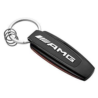 Original Mercedes-Benz AMG Schlüsselanhänger schwarz/silber/rot