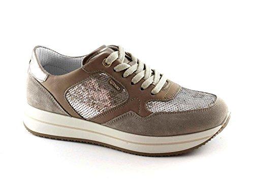 IGI&CO 77749 visone beige scarpe donna sportive lacci sneakers Beige