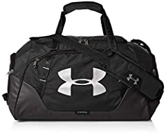 Idea Regalo - Under Armour UA Undeniable Duffle 3.0 LG, Borsone Unisex Adulto, Nero Black/Silver), Taglia unica