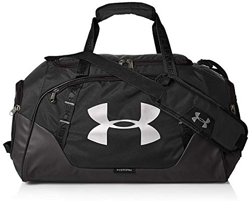 Under Armour UA Undeniable Duffle 3.0 LG, Borsone Unisex Adulto, Nero Black/Silver), Taglia unica