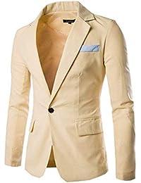 c1cc85f7eb27 Herren Classic Slim Fit Sakko Blazer Fashion Business Freizeit Knopf EIN  Kurzjacke Anzugsjacke Kurzmantel Casual