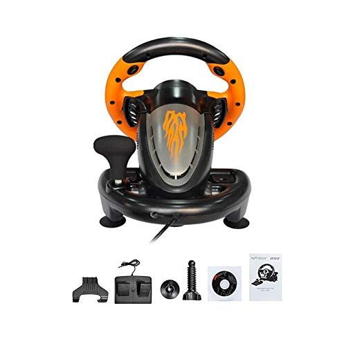Blue-Yan Driving Force Race Wheel für XBOX-360/PS3/P2/PC Game Racing Lenkrad USB Computer Vibration Orange