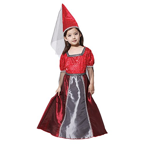 M&A Kinder Mädchen Kostüm für Halloween, Zauberhafte Hexe, Gr. XL(Körpergröße: 130-140 cm) (Zauberhafte Hexe Kind Kostüme)