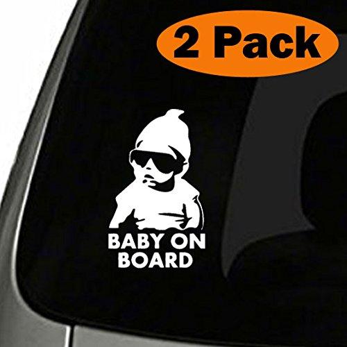 TOTOMO # ALI-019 (Set von 2) Aufkleber Aufkleber Sicherheit Vorsicht Zeichen für Car Windows - Carlos aus dem Hangover lustige Aufkleber Autoaufkleber