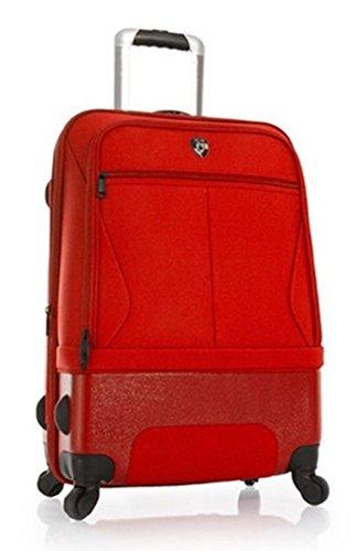 PREMIUM DESIGNER Hybrid Koffer - Heys Hybrid Spinner Air-Lite II Rot Trolley mit 4 Rollen Medium p2iy4y1i&&H43Hr (Spinner Hybrid)