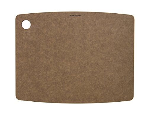 Epicurean Kitchen Series Cutting and Chopping Board, Compressed Wood Composite, 37.5 x 27.5 x 0.6 cm, Nutmeg Brown