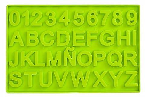 Ibili 871300 Moule à chocolat en forme de lettres et de chiffres