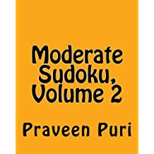 Moderate Sudoku: Easy and Fun Large Grid Sudoku Puzzles: 2