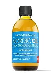 Nordic Oil Hohe Festigkeit 250ml Omega 3 Fischöl. Geschmack Award Winning Lemon Aromatisiert und Drittanbieter getestet