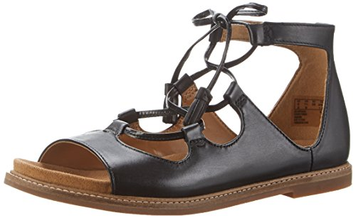 Clarks Corsio Dallas, Sandali con Zeppa Donna Nero (Black Leather)