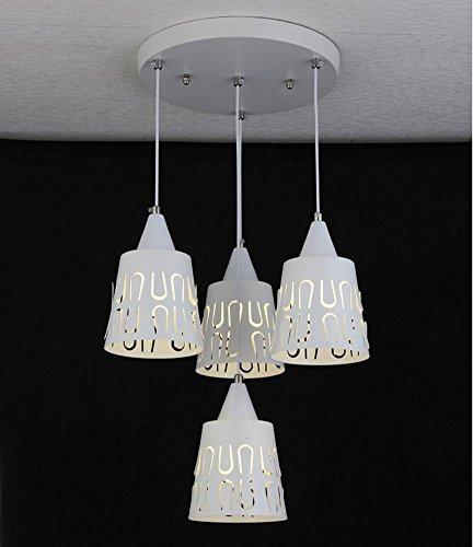 YMXJB Pendelleuchte Modern Creative LED Anhänger Licht Persönlichkeit Kronleuchter pastorale Cafe Eisenstange Wohnzimmer Zweifarben-Polarisation