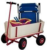 Izzy Bollerwagen Luftbereifung Holz für Strand 100 kg Luftreifen Transportwagen