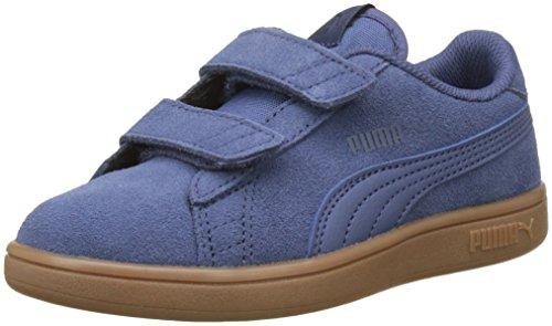 Puma Unisex-Kinder Smash v2 SD V PS Sneaker, Blau (Blue Indigo-Peacoat), 33 EU