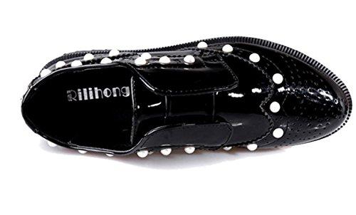 XDGG nuovo svago della molla spessa scarpe scarpe casual comode scarpe Donne Tie black