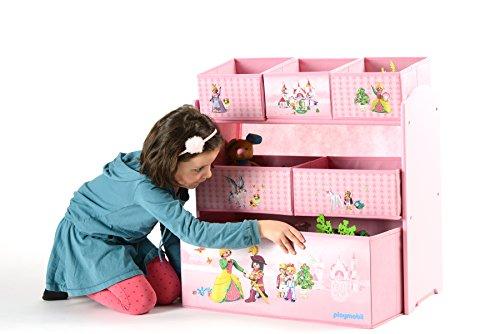 Playmobil Princess 064623 Toy storage shelves Independiente Multicolor, Rosa caja de juguete y de almacenamiento - cajas de juguetes y de almacenamiento (Toy storage shelves, Multicolor, Rosa, Independiente, Imagen, Cartón, MDF, Princess)