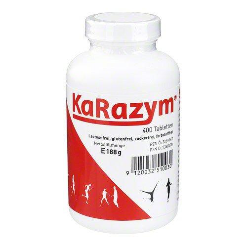 2x 400 Tab. KaRazym in der Dose +Appetizer Dish Gratis. Mit Digestiven Enzymen (Papain, Bromelain, Pankreatin, Rutin, Inulin)- Verdauungsenzyme -