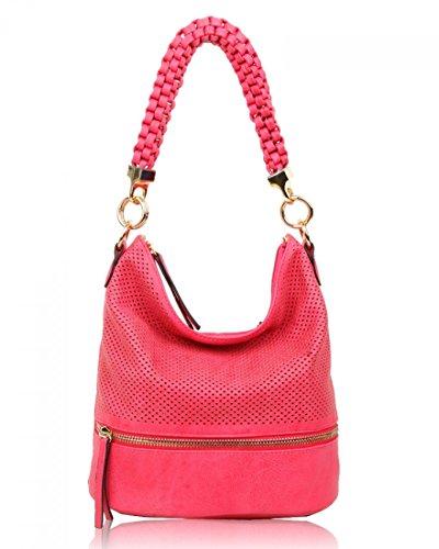 LeahWard Mode-Stil Taschen für Frauen Damen Faux Leder Umhängetasche Weiche Handtaschen für sie CW150906 (Orchid) (Orchid Faux Leder)