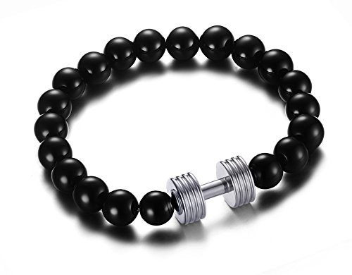 vnox-mens-womens-black-agate-beads-barbell-silver-charm-stretch-bracelet-bodybuilding-fitness-jewelr