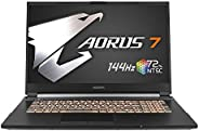 "Gigabyte AORUS 7 KB-7ES1130SD - Ordenador portátil de 17.3"" FHD 144Hz ( Intel Core i7-10875H, 16GB RAM, 5"