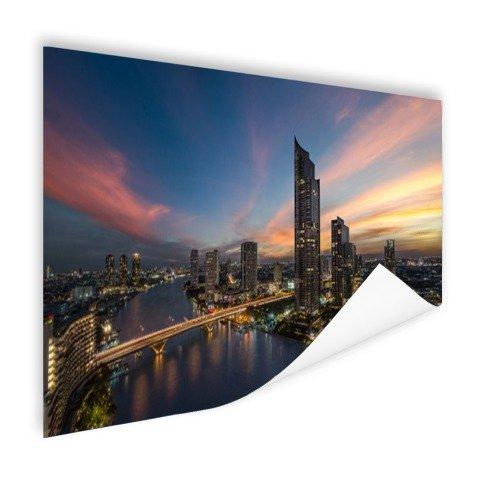 Chao Phraya rivière à Bangkok Rivier Poster 150x75