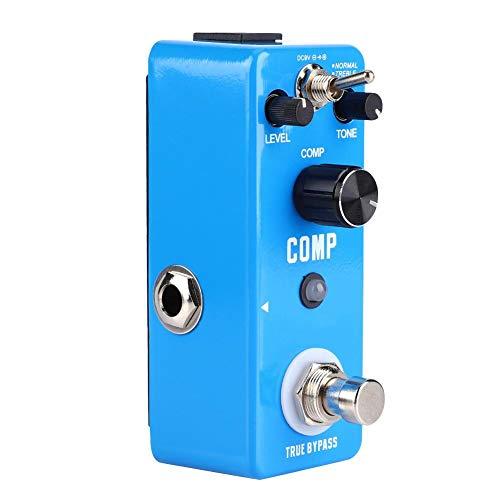 Fafeims Gitarren-Effekt-Kompressor, Gitarren-Pedale Mini Metal Shell Analog-Kompressor-Gitarren-Effekt-Pedal mit Benutzerhandbuch