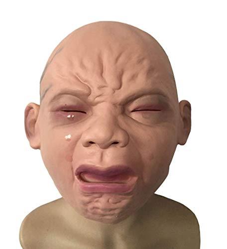Fanfan Halloween Cos Dress Up Schreiende Latex-Haube Maske Charakter Schreien Kinder Maske Cosplay Schreien Baby-Requisiten