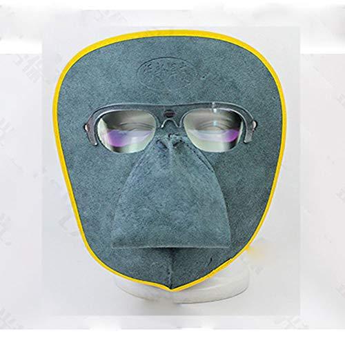 84a205549 XMK Bouchon de Soudure Soudure Masque de Protection, Cuir Matériau léger  Anti UV Lunettes Amovible