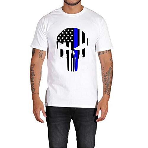 Sommer Kurzarm T-Shirts Top T Bluse Beiläufige Dünne Sport T-Shirt Männer Jungen T-Shirt Top,3D gedruckt lässig - A weiß L