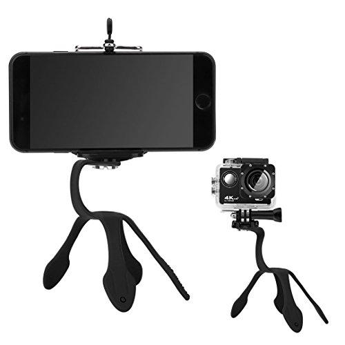 Ulix poseidon supporto smartphone per auto, treppiede cellulare macchina, universale e flessibile per fotocamera, porta telefono per go pro, huawei, samsung, iphone