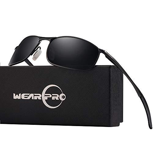 wearpro Sonnenbrille Herren Polarisierte Sports Männer Al-Mg Metall Rahme Ultra Leicht WP1015