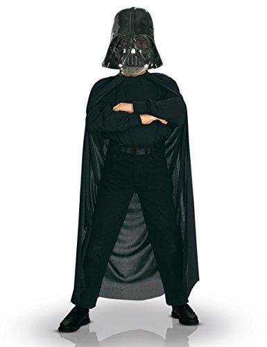 KULTFAKTOR GmbH Darth Vader Kinder Kostüm Set schwarz -
