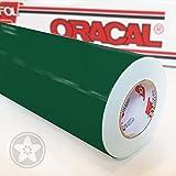Oracal 621 Folien SET 060 - Dunkelgrün Klebefolie - 5m x 61,5cm - Orafol - Möbelfolie - Plotterfolie - Selbstklebend (Folien Set inkl. weichem Filzkantenrakel)