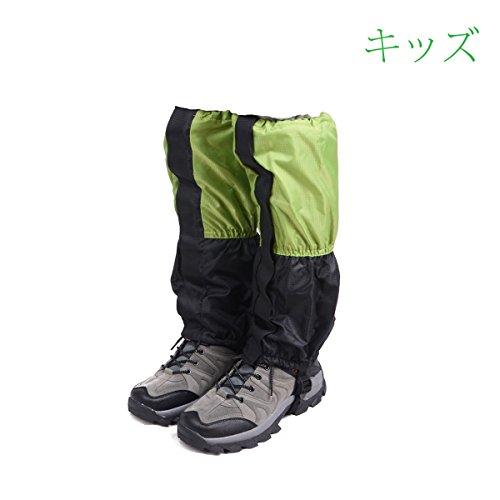 Triwonder Ghette unisex Snow Leg Gaiters Boot impermeabile Escursionismo Walking Arrampicata Caccia Leggings Ciclismo Cover (1 paio) (Verde e nero - Kid)