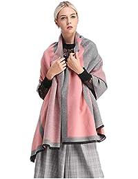 Trend Fabric Écharpe Femme Hiver Cachemire Épaississement Manteau Automne  Hiver Laine Manteau Col Châle Manteau Dames 76082aff736