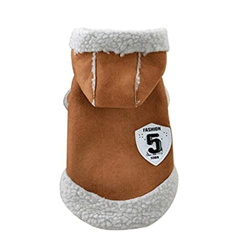 Tonsee Animaux de compagnie chien hiver vêtements manteau chiot Costume veste chaude Outwear Apparel (S, Café)